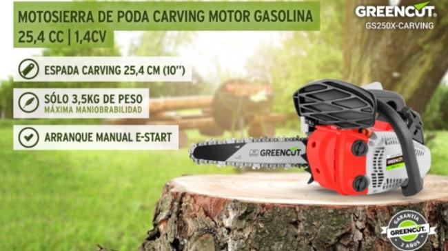 motosierra Greencut GS2500 10 Carving
