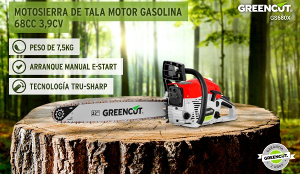 motosierra gasolina barata Greencut GS6800